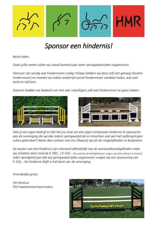 Sponsor Hindernis